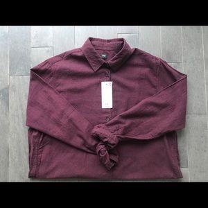 UNIQLO Flannel Button-Down